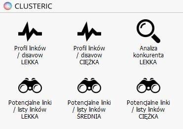 wybór clusteric badanie linków