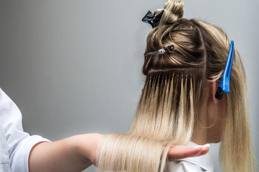 przedłużanie włosów metodą nano ring