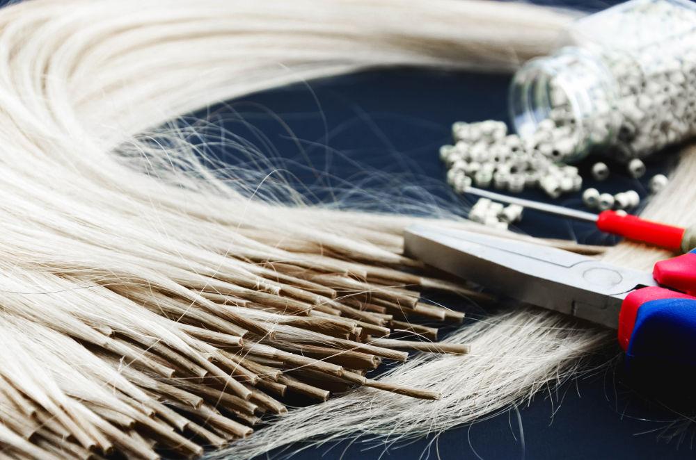 przedłużanie włosów metodą tulejkową