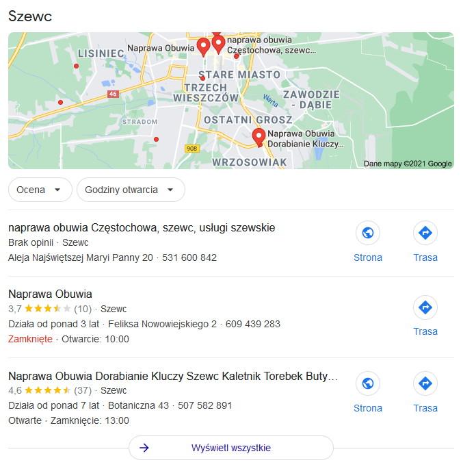 google moja firma dla biznesu lokalnego