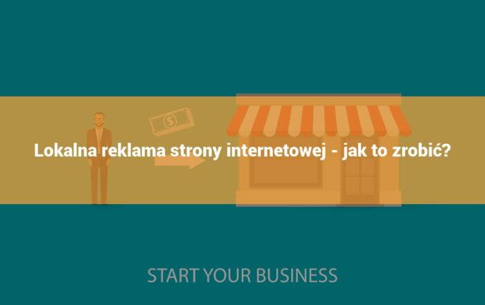lokalna reklama strony internetowej